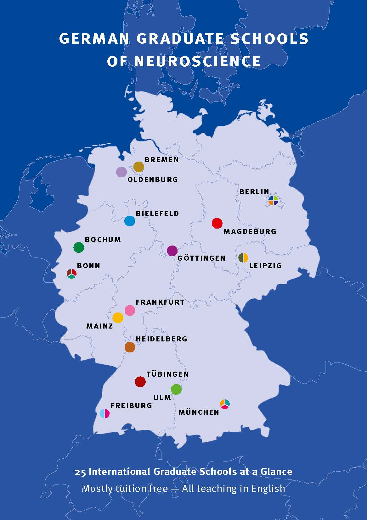 German Graduate Schools Of Neuroscience - Germany map gottingen